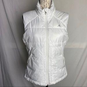 White Adidas Puffer Jacket/vest size M